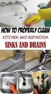 Cleaning Bathroom Sink Drain How To Properly Clean Kitchen And Bathroom Sinks And Drains