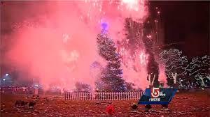 mayor marty walsh helps light christmas tree on boston common
