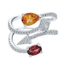 color stones rings images 14k white gold diamond multi color stones fashion ladies 39 ring jpg
