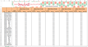 Excel Debt Payoff Template Debt Snowball 16 Columns Savvy Spreadsheets