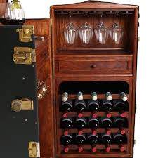 Retro Bar Cabinet Vintage Steamer Trunk Bar Cabinet Fatto A Mano Antiques