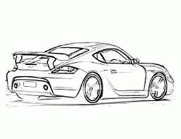 porsche cayman ta widebody sports car coloring pages free