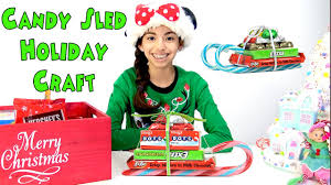holiday christmas candy cane sleigh craft kid crafts