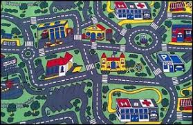 zoe city roads kids rug 5 sizes children car play mat street