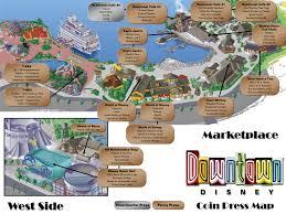 Disney Map Downtown Disney Pressed Pennies Map Mickey Magic Pinterest