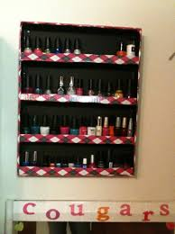 how to make a diy nail polish rack snapguide