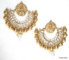 danglers earrings design buy polki pearl gold plated designer ramleela earrings