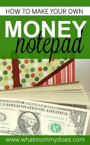 how to make a money notepad the coolest gift idea for teens