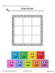 geometric shape builder worksheet square color