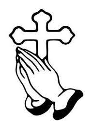 large cross praying religous bible vinyl car decal sticker