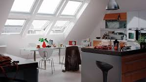 attic kitchen with top hinged roof windows the types of attic