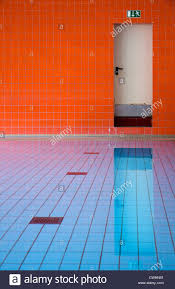 pool fire escape indoor swimming pool stock photo royalty free