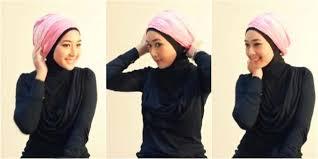 tutorial turban sederhana tutorial turban pink tie dye praktis tanpa jarum acusster