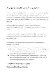 Combination Resume Template Download Resume Format Computer Skills Functional When To Use A Inside 89