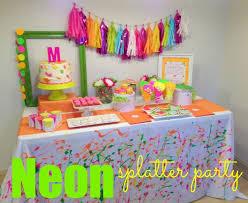 Neon Themed Decorations 15 Best Neon Splatter Party Ideas Images On Pinterest Birthday