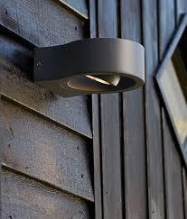 black exterior wall lights black round exterior wall light with adjustable led spot light