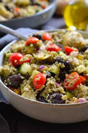 pesto quinoa salad stingy vegan
