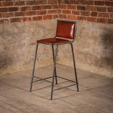 Brown Leather Bar Stool Vintage Brown Leather Bar Stools U2014 Home Ideas Collection Mix And