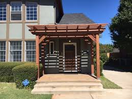 front entrance pergola adds to curb appeal outdoor essentials