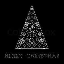 black christmas cards christmas made from rectangles on black background with element
