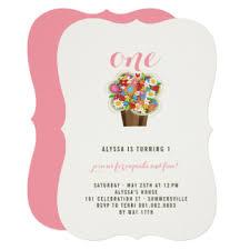 1st birthday cupcake invitations u0026 announcements zazzle
