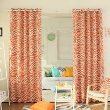 Sheer Grommet Curtains Best Home Fashion Inc Zebra Room Animal Print Semi Sheer Grommet
