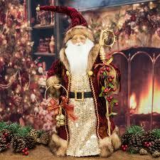 luxury large santa claus figure tree topper 48cm santa claus