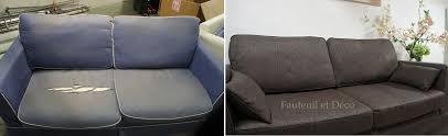 quel tissu pour canapé recouvrir un canapé avant après fauteuil déco