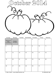 12 images of october calendar coloring page october 2014