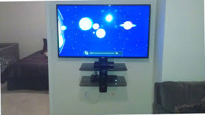 wall mounted tv unit master p7 de and component shelves right