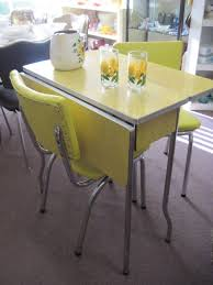 retro yellow kitchen table 1950 formica table and chairs yellow 1950 s cracked ice formica