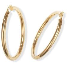 large gold hoop earrings 14k gold hoop earrings large and thick 2 1 2 polyvore