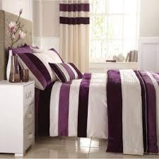 purple plum and cream velvet banded sequined duvet cover