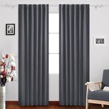 Thermal Back Curtains Deconovo Rod Pocket Curtain Thermal Insulated Blackout Curtains