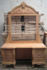Unfinished Wood Vanity Table Pin By Unfinished Furniture On Unfinished Mahogany Furniture