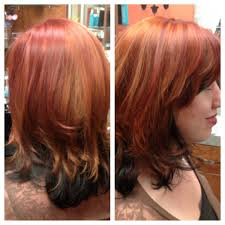 Red Hair Color With Highlights Pictures Hair Color Salon Balayage Highlight Denver Do The Bang