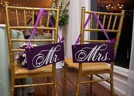 Wedding Chair Signs Wedding Chair Signs Mr And Mrs And Or Thank And You Wedding