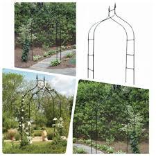 garden arch arbor archway wedding black metal trellis small 8 feet