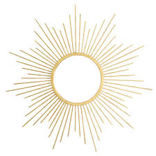 20 in gold sunburst mirror at home at home