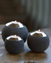 orb garden tealight holders set of 3 cultural elements