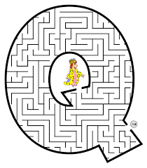 free printable maze for kids uppercase letter q