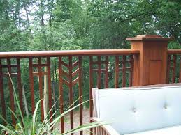 Prarie Style Ipe Deck With Prairie Style Railing Fine Homebuilding
