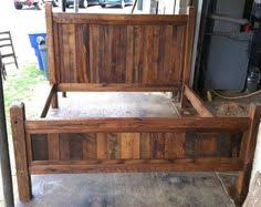 Rustic Queen Headboard by Rustic Headboard With Wood And Corrugated Tin Queen Headboard