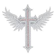 s4136l cross with wings isaacs designs