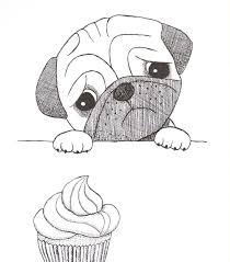 41 best pug stuffs images on pinterest dogs drawings and pug