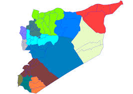 Map Of Syria And Russia Federalization Of Syria Wikipedia