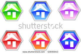 hexagon house design button icon stock vector 51835222 shutterstock