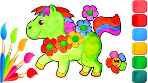 how to color baby animals cute horse coloring pages for kids to