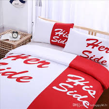 red her u0026his wedding bed sets full size couples gift sheet set