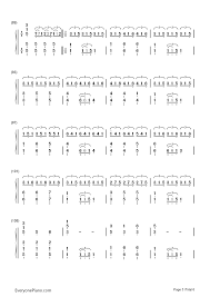 christmas lights coldplay numbered musical notation preview 5